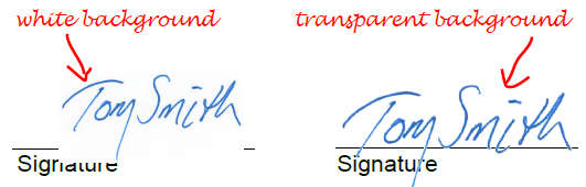 how to make a transparent signature stamp
