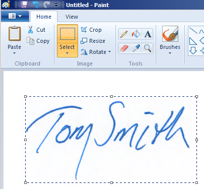 copy and paste signature  How To Make A Transparent Signature Stamp